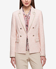 Tommy Hilfiger Double-Breasted Tweed Blazer