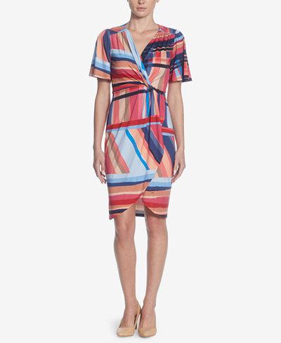 Catherine Catherine Malandrino Nyla Printed Faux-Wrap Dress