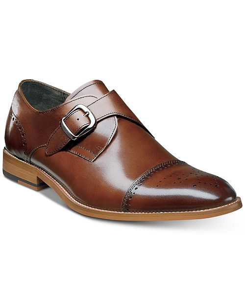 Stacy Adams Men's Duncan Cap-Toe Single Monk Strap Shoes, Created for Macy's