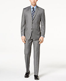 Marc New York by Andrew Marc Men's Classic-Fit Stretch Gray Glen Plaid Suit