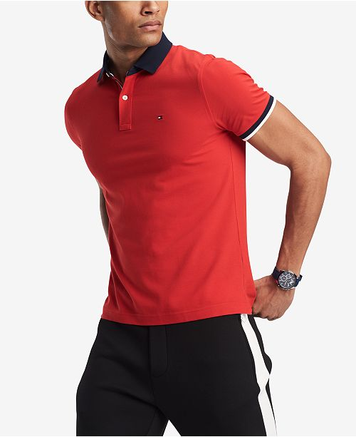 ecc6e91c ... Tommy Hilfiger Men's Sanders Custom Fit Polo, Created for Macy's ...