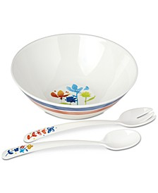 Nilsen Melamine Salad Bowl with Servers