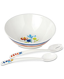 Dansk Nilsen Melamine Salad Bowl with Servers