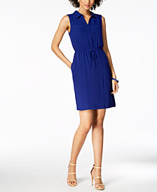 Ellen Tracy Petite Drawstring Shirtdress