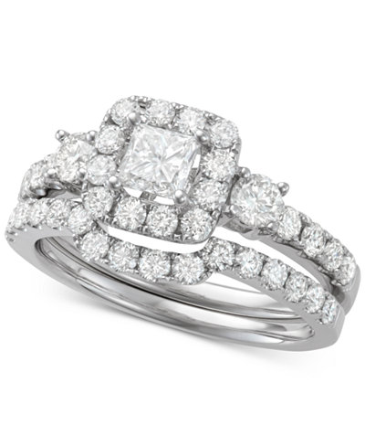 Diamond Halo Bridal Set (1-3/4 ct. t.w.) in 14k White Gold