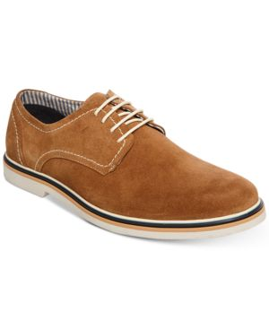 Steve Madden Men's Frick Suede Plain-Toe Lace-Up Oxfords Men's Shoes 6637921