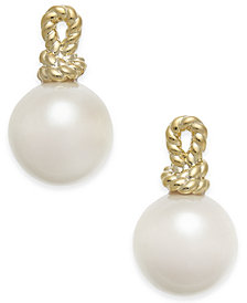 kate spade new york Gold-Tone Knot & Imitation Pearl Stud Earrings