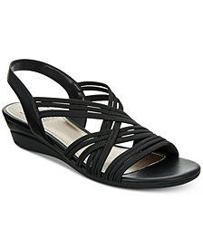 Impo Ramsey Stretch Slingback Wedge Sandals
