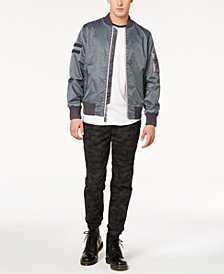 American Rag Men's Raglan T-Shirt, Nylon Bomber Jacket & Camo-Print Biker Jogger Pants Separates, Created for Macy's