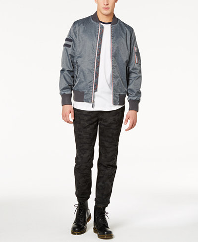 American Rag Men's Raglan T-Shirt, Nylon Bomber Jacket & Camo-Print Biker Jogger Pants Separates, Created for Macy's
