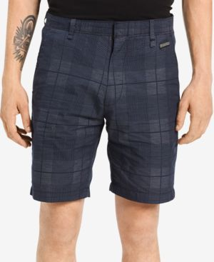 "Men'S Plaid Dobby 9"" Shorts, Sky Captain"
