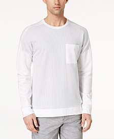 Calvin Klein Men's Stripe Blocked Pocket T-Shirt