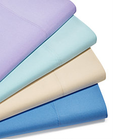 CLOSEOUT! Martha Stewart Essentials Solid Microfiber 4-Pc. Sheet Sets, Created for Macy's