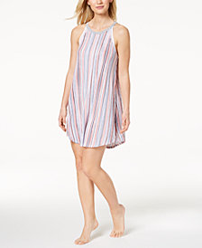 DKNY Sleeveless Mesh-Trim Nightgown