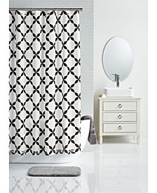 "CLOSEOUT! Charter Club 72"" x 72"" Trellis-Print Shower Curtain, Created for Macy's"