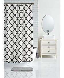 "LAST ACT! Charter Club 72"" x 72"" Trellis-Print Shower Curtain, Created for Macy's"