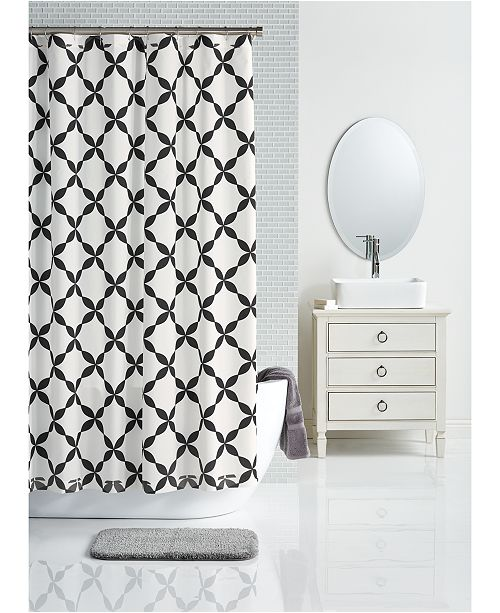 "Charter Club LAST ACT! 72"" x 72"" Trellis-Print Shower Curtain, Created for Macy's"