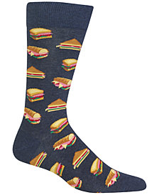Hot Sox Men's Sandwiches Socks
