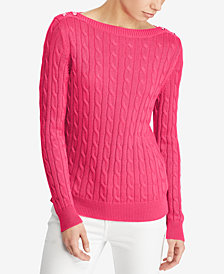 Lauren Ralph Lauren Petite Cable-Knit Sweater