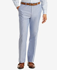 Men's Modern-Fit TH Flex Stretch Blue Chambray Suit Pants