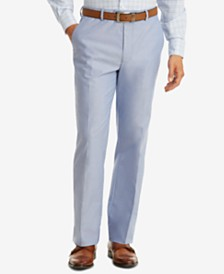 Tommy Hilfiger Men's Modern-Fit TH Flex Stretch Blue Chambray Suit Pants