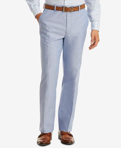 Tommy Hilfiger Men's Modern-Fit TH Flex Stretch Blue Chambray Suit Pants