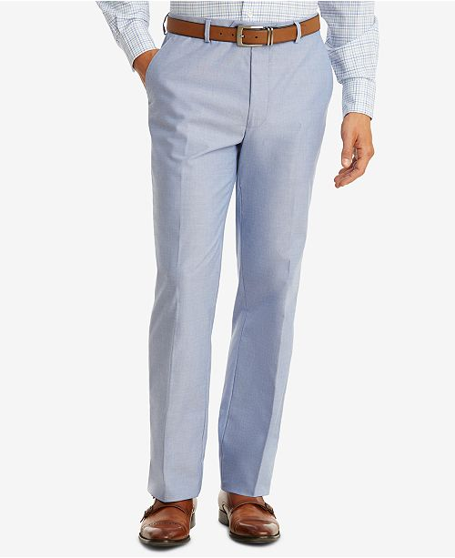 7fe8770e0f Tommy Hilfiger Men's Modern-Fit TH Flex Stretch Blue Chambray Suit Pants ...