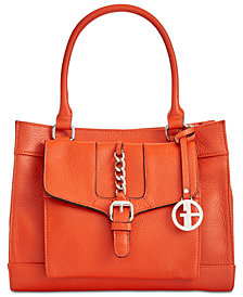 Giani Bernini Pebble Leather Satchel, Created for Macy's