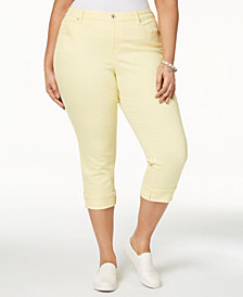 Style & Co Plus Size Cuffed Crop Jeans, Created for Macy's