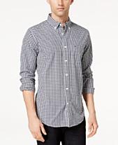 Tommy Hilfiger Men s Long-Sleeve Twain Gingham Check Classic Fit Shirt 61aa3b3fa
