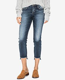 Silver Jeans Co. Curvy-Fit Cropped Skinny Jeans