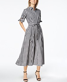 Calvin Klein Gingham Shirtdress