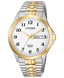 Men's Quartz Two-Tone Stainless Steel Bracelet Watch 38mm