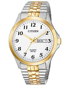 Citizen Men's Quartz Two-Tone Stainless Steel Bracelet Watch 38mm
