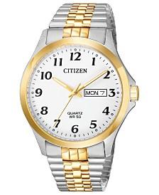 Citizen Men's Quartz Two-Tone Stainless Steel Bracelet Watch 38mm