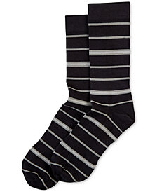 HUE® Women's  Power Compression Striped Crew Socks