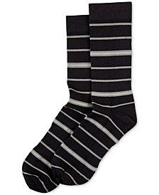 HUE® Women's  Power Compression Striped Crew Socks