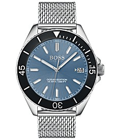 Hugo Boss Men's Ocean Edition Stainless Steel Mesh Bracelet Watch 42mm