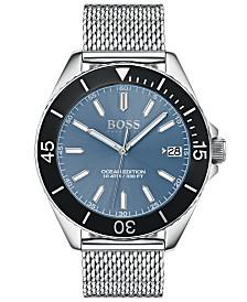 BOSS Hugo Boss Men's Ocean Edition Stainless Steel Mesh Bracelet Watch 42mm