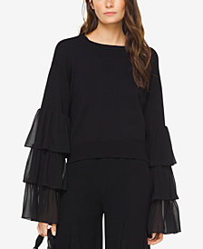 MICHAEL Michael Kors Tiered Ruffle-Sleeve Sweater
