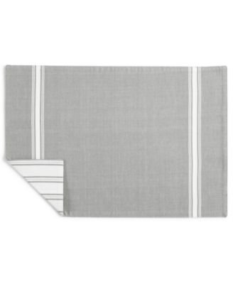 Striped Gray Cotton Placemat, Created for Macy's