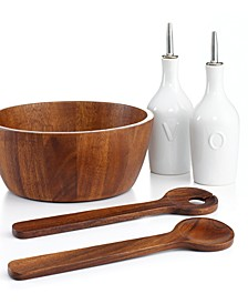 Acacia Wood 5 Piece Salad Set, Created for Macy's