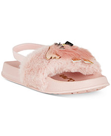 Sam Edelman Mackie Furry-T Faux-Fur Sandals, Toddler Girls