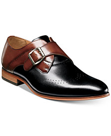 Stacy Adams Men's Saxton Monk Strap Wingtip Loafers