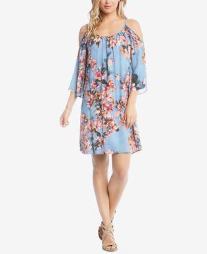 Karen Kane Floral Fresco Cold-Shoulder Dress 5860836