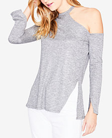 RACHEL Rachel Roy Long-Sleeve Shoulder-Cutout Sweater, Created for Macy's