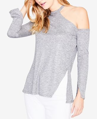 Rachel Rachel Roy Long Sleeve Shoulder Cutout Sweater Created For