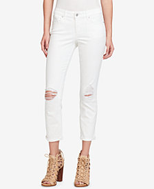 Jessica Simpson Juniors' Kiss Me Cropped Super Skinny Jeans