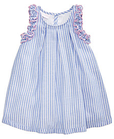 Bonnie Baby Striped Ruffle Dress, Baby Girls