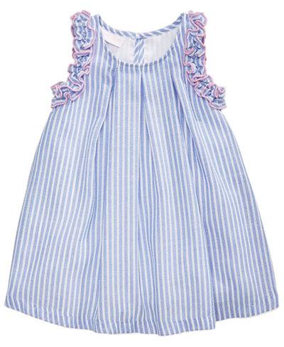 Bonnie Baby Striped Ruffle Dress, Baby Girls